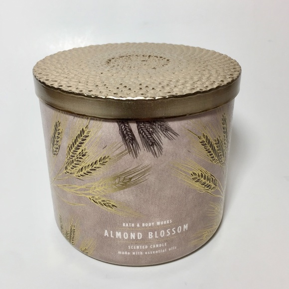Bath & Body Works Other - ALMOND BLOSSOM 3 Wick Candle